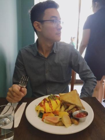 A pretty omelette.